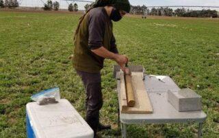 Aaron Prairie doing fieldwork.